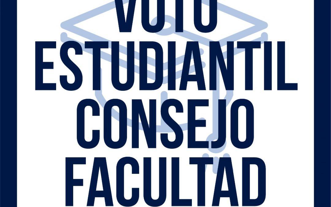 Voto Estudiantil en el Consejo de Facultad
